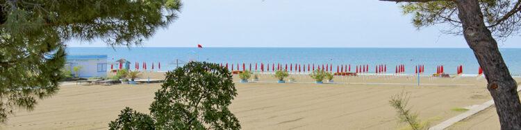 Italy - Upper Adriatic Sea: Grado sandy beach