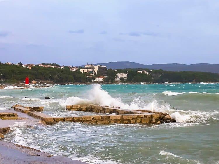 Storm on Krk in Croatia