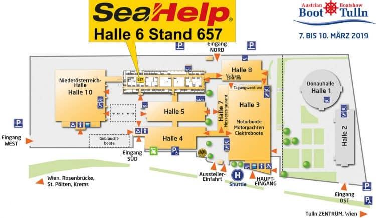 Hall map Austrian Boat Show / Boot Tulln