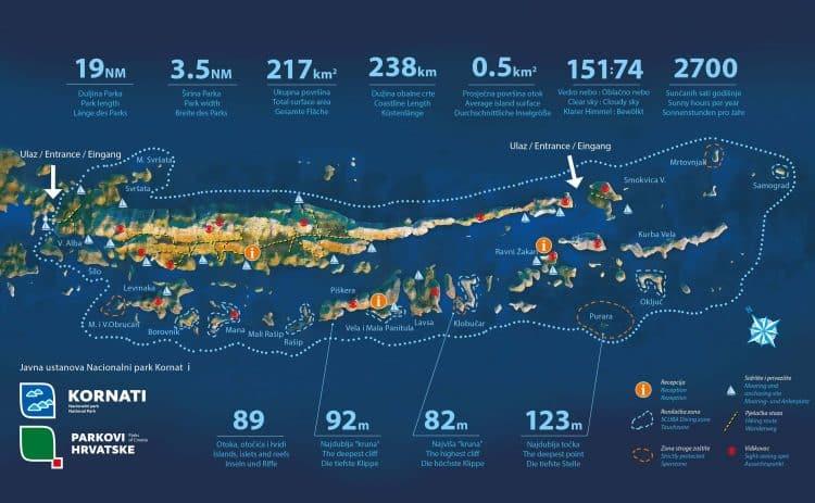 Kornati National Park map
