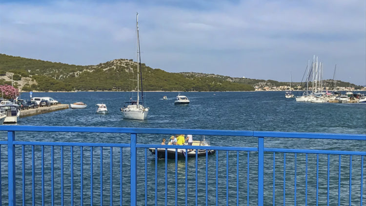Croatia island Murter: View from the bridge in Tisno
