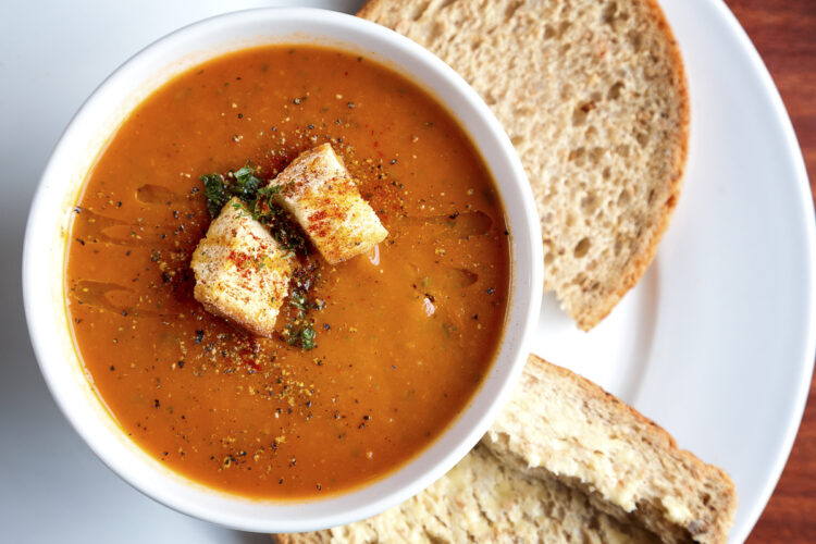 Cooking on board: recipe / dish - Gazpacho, Spanish vegetable soup