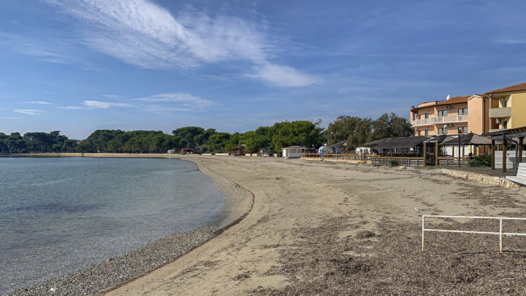 Travel warning Croatia: deserted beaches in Istria