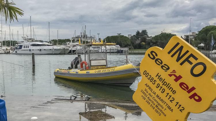 SeaHelp Boot & Infostand: 33. Nautilia Latisana - Gebrauchtboote Messe - Aprilia Marittima – Latisana (Udine - Italien)