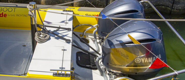 Towing bollards on SeaHelp's operational boats, so towing yachts up to 100 tons is no problem.