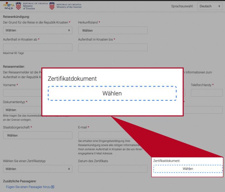 EnterCroatia: Upload immunization records