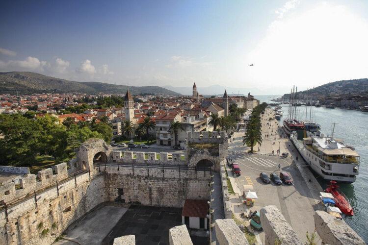 Trogir view from Kamerlengo