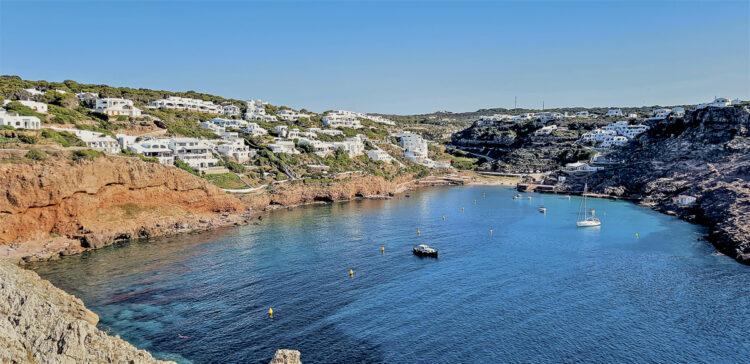 Menorca cruising area - Cruising around the island: Cala Morell on the north coast