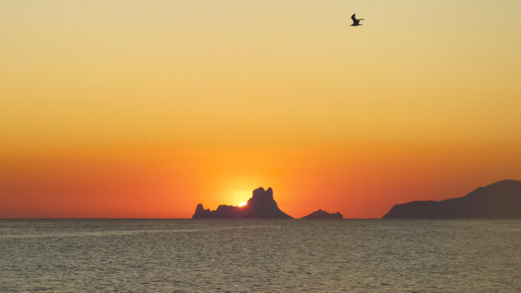Ibiza - small, rich and beautiful: rocky island Es Vedra