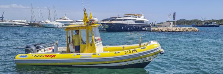 SeaHelp Einsatzboot Marina Tribunj Kroatien