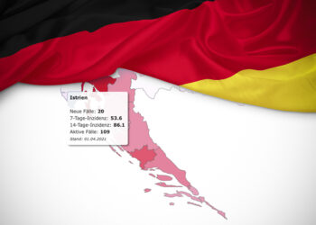 Germany classifies the whole of Croatia as a risk area, including Istria: Quarantine on entry and return respectively