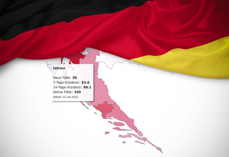 Deutschland stuft ganz Kroatien als Risikogebiet ein, auch Istrien: Quarantäne bei Einreise bzw. Rückreise