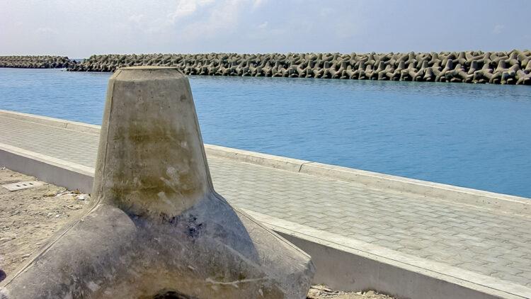 Schwankender Meeresspiegel der Ozeane - Phänomen der Gezeiten: Malé, Nord Malé Atoll, Malediven