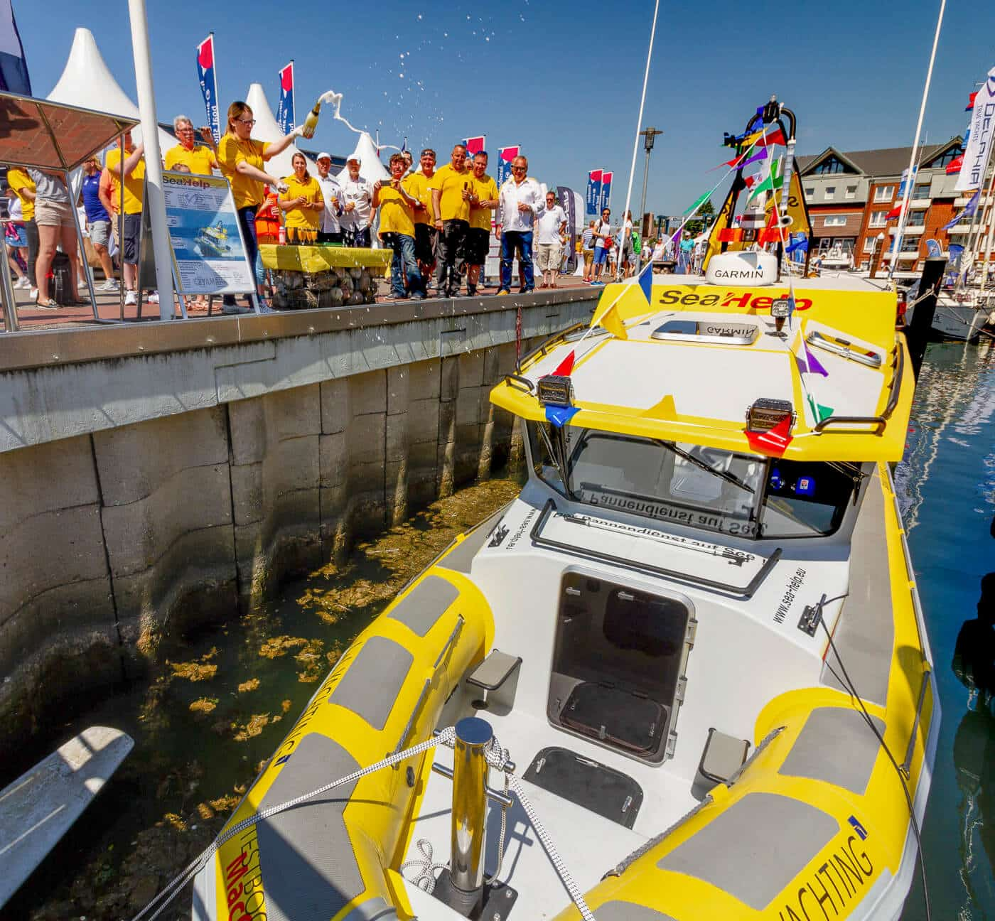 SeaHelp boat christening Baltic Sea - 2nd generation service boat