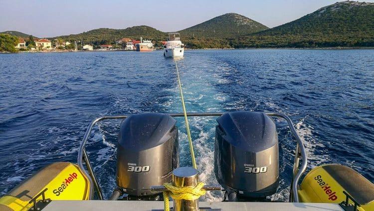 SeaHelp abschleppen bei  Kraftstoffproblemen
