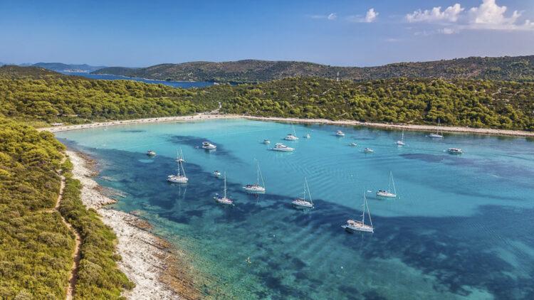 Strand / Sandstrand Tipps Kroatien für Segler: Strand Sakarun auf der Insel Dugi Otok