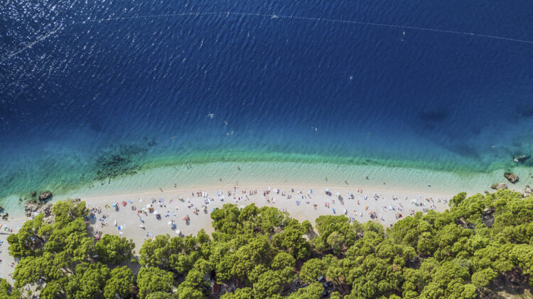 Strand / Sandstrand Tipps Kroatien für Segler: Punta Rata Beach (Brela)
