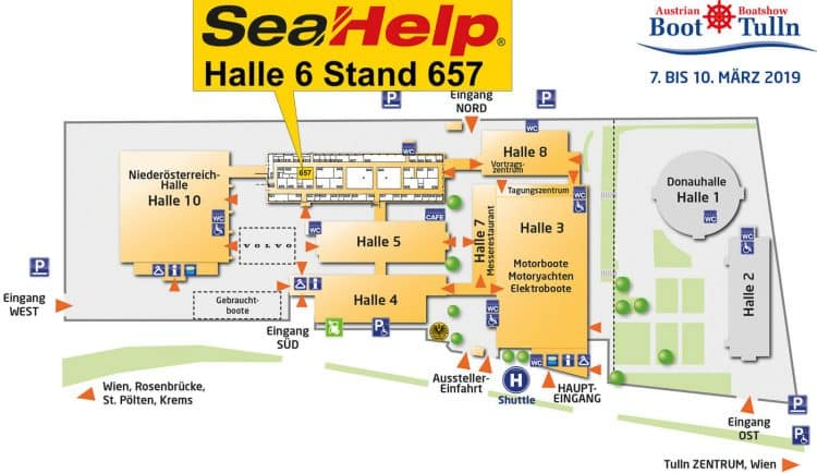 Hallenplan Austrian Boat Show / Boot Tulln