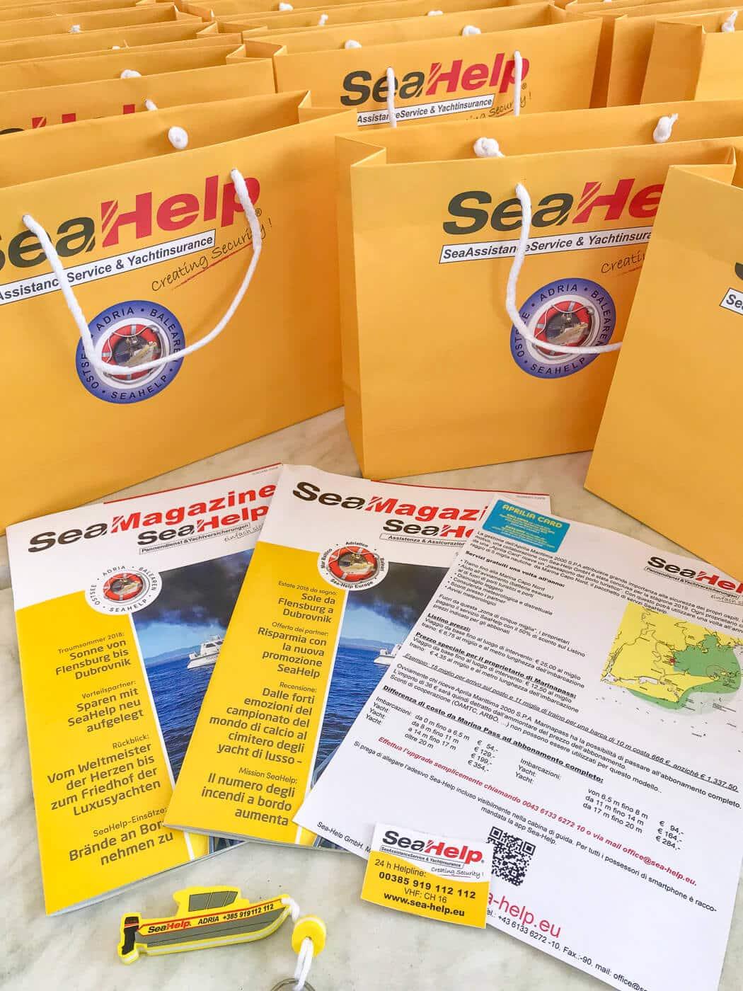SeaHelp-Marinapass für alle Dauerlieger der Marina Capo Nord