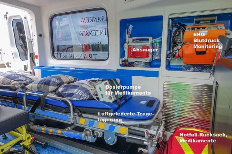 Ausstattung Rettungswagen Kirt Stiermark