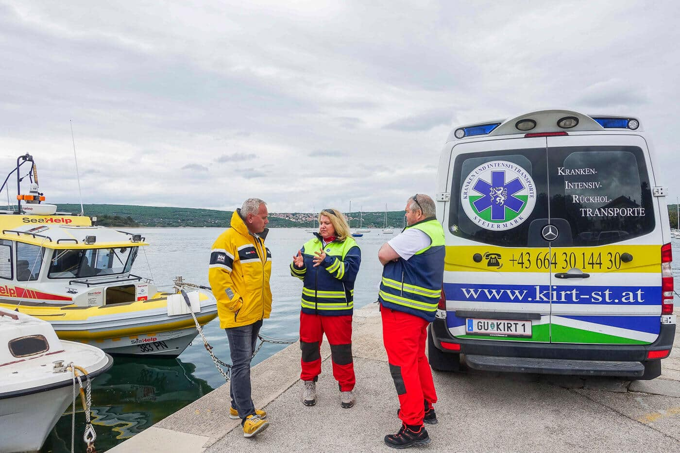 New SeaHelp cooperation partner Kirt-Steiermark helps with medical emergencies and problems on board
