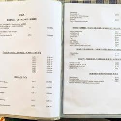 Konoba 7th Nebo - Kakan - Croatia -  Menu pages 10 und 11