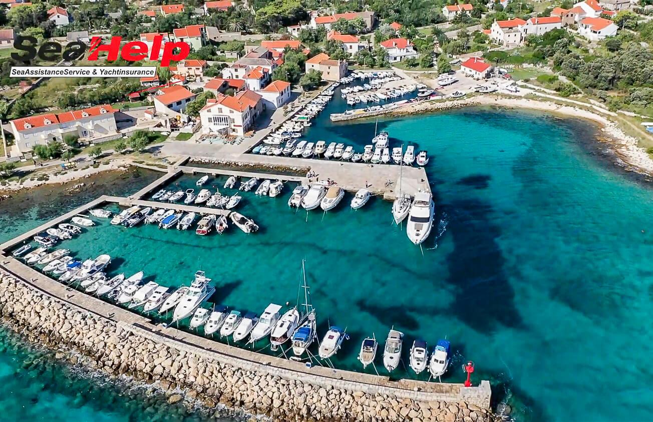 Insel Silba Ostseite: Für private Boote und Yachten