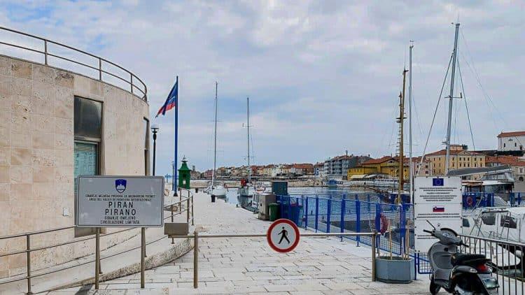 Grenzverlauf in der Bucht von Piran