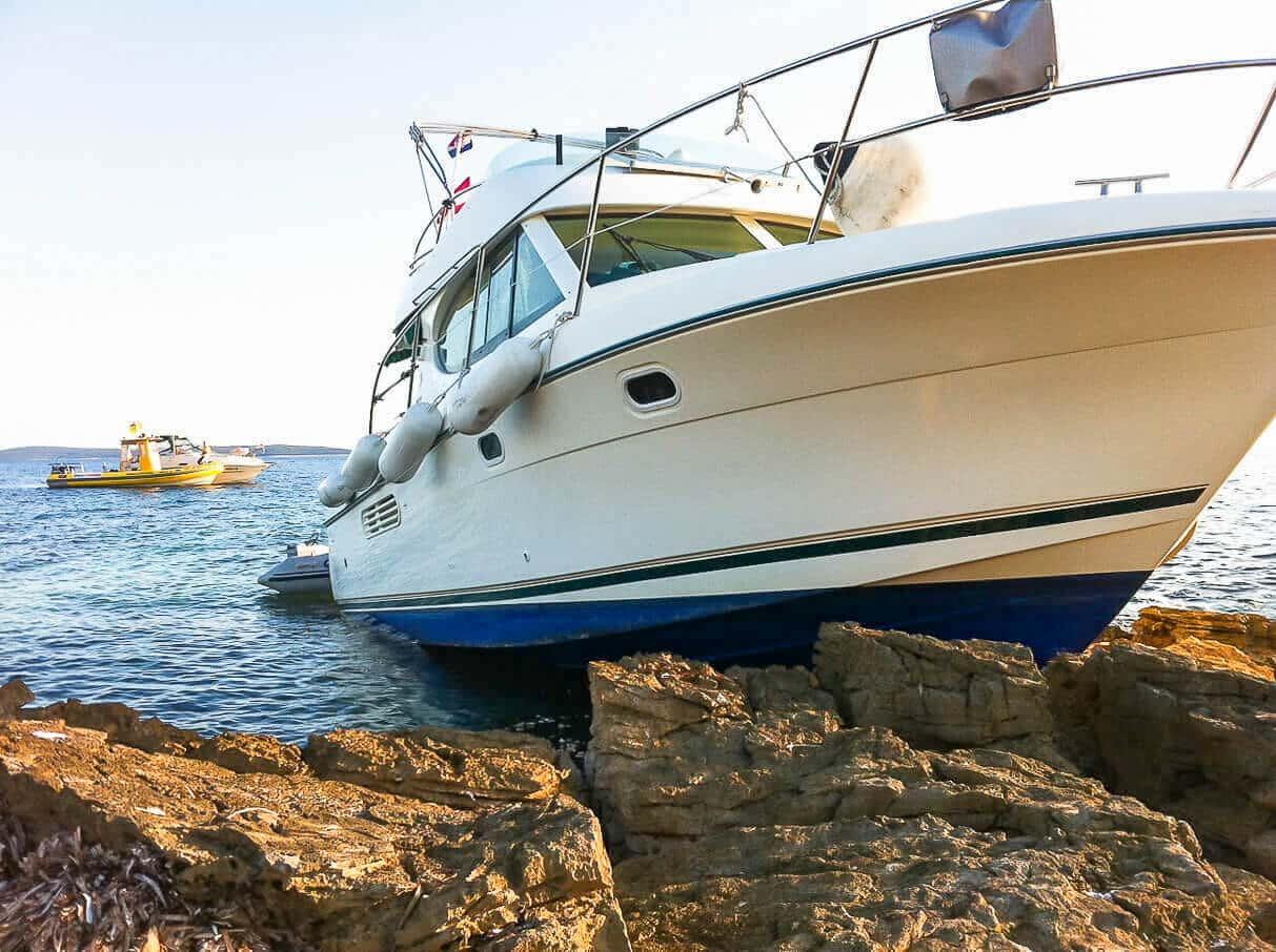 Yacht gestrandet