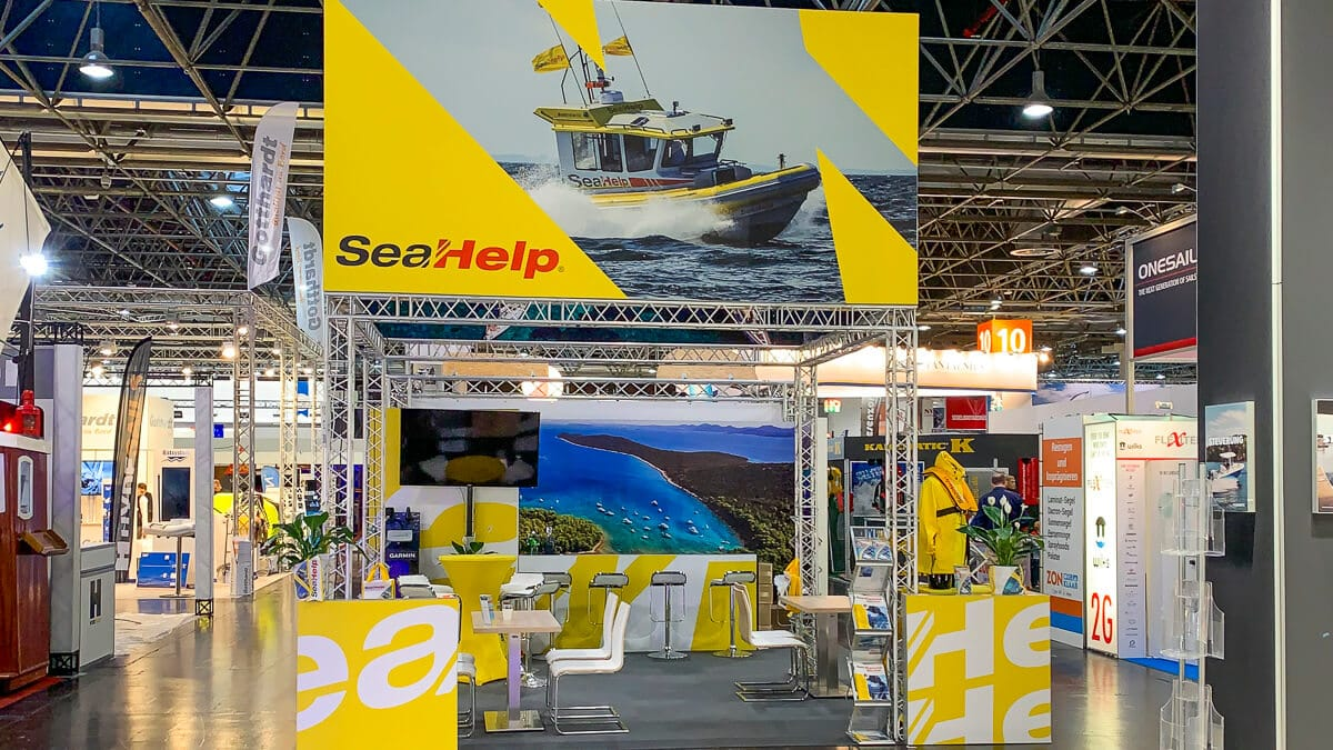 SeaHelp - Messestand boot Düsseldorf 2020