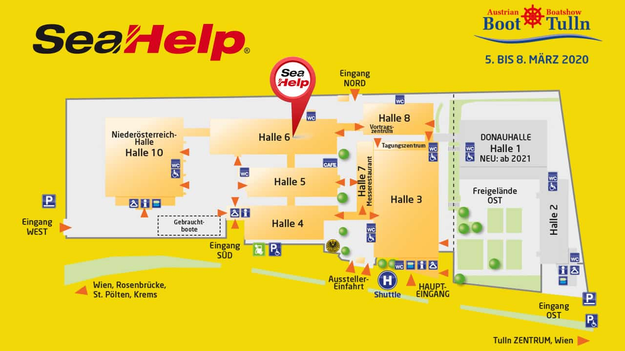 SeaHelp Halle 6, Stand 657 - Austrian Boat Show - boot Tulln 2020