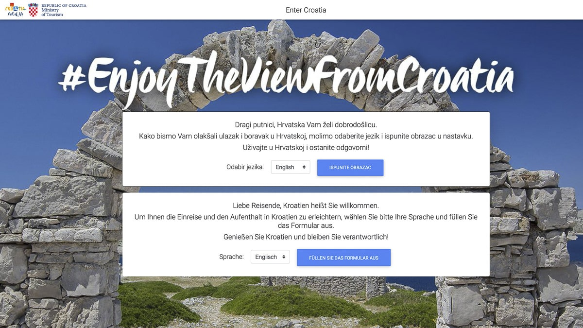 Enter Croatia Formular: Registrieren für schnelleren Grenzübertritt.