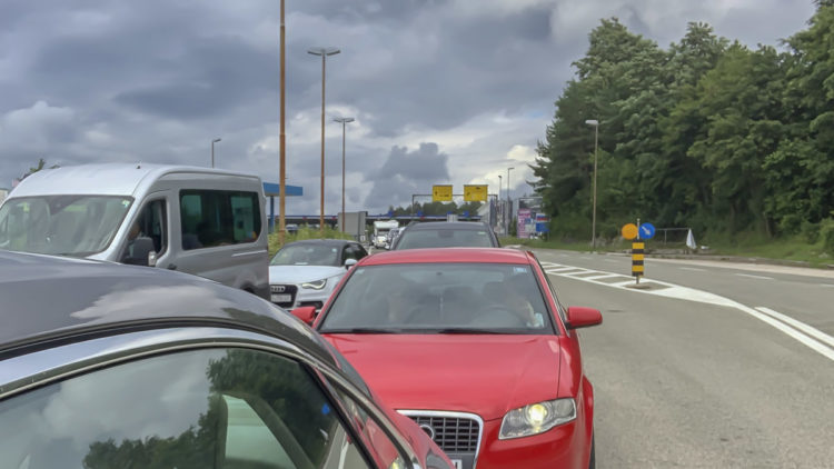 Entry Croatia via Slovenia Traffic jam