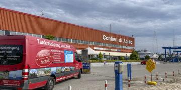 Dieselpest Bekämpfung in Lignano durch MFT Microfiltertechnik