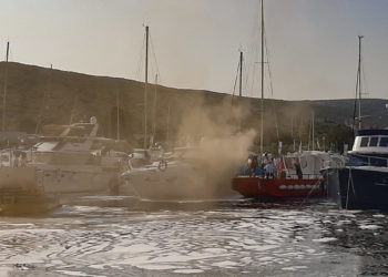 Fire Marina Punat Croatia: Fire on board a yacht