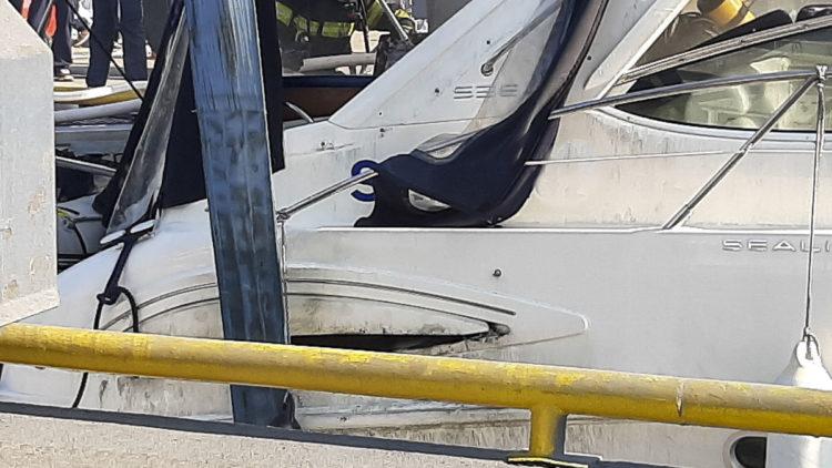 Feuer verursacht hohen Schaden an der Yacht in der Marina Punat