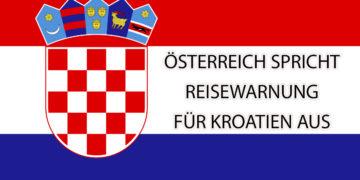 Reisewarnung für Kroatien aus Österreich