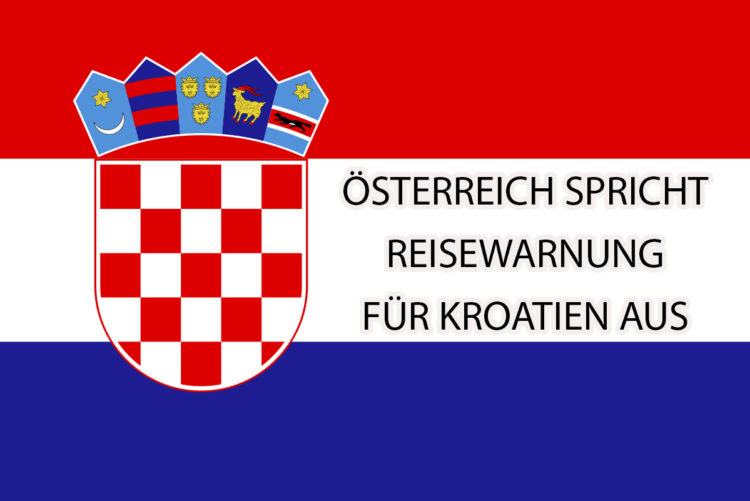 Travel warning for Croatia from Austria