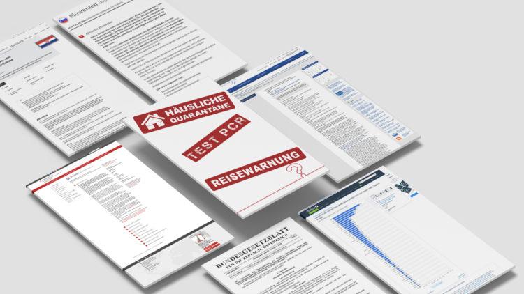Reisewarnung, häusliche Quarantäne, PCR Test: Kroatien, Slowenien, Italien, Österreich, Deutschland