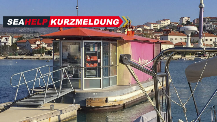 Flash boat fuel station on the island of Krk in Croatia reopened
