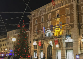 Christmas market in Rijeka despite Corona location