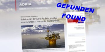 Gas platform Ivana D sunk in the Adriatic Sea off Croatia