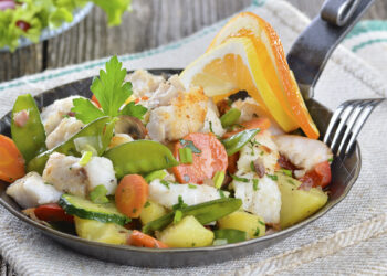 Kochen an Bord: Rezept / Gericht - Fischpfanne mit Gemüse