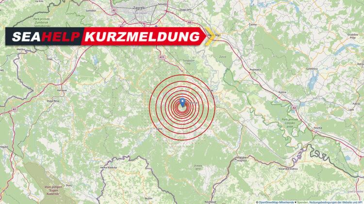 Earthquake Croatia: A magnitude 5.2 earthquake hit Petrinja / Sisak