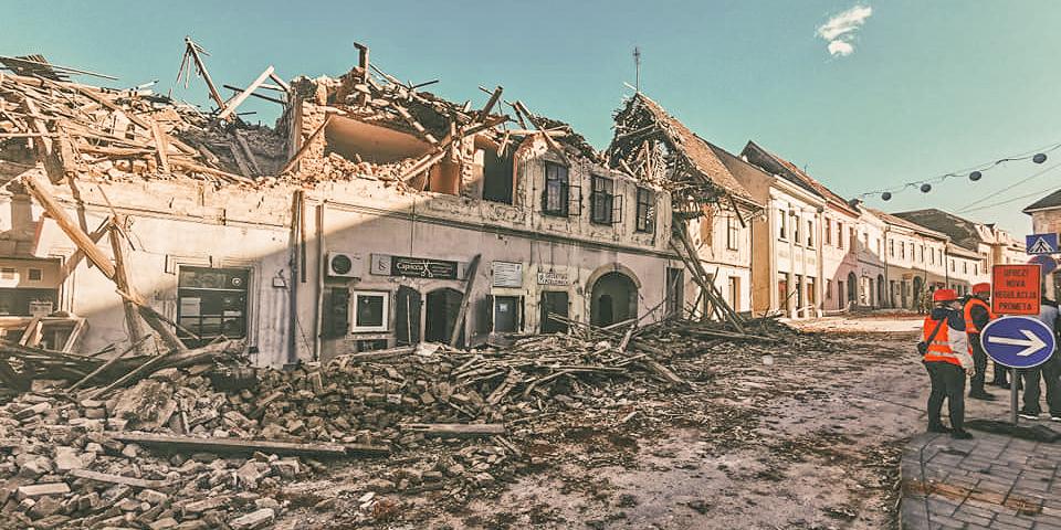 Earthquake Croatia in the region Petrinja / Sisak: Many houses uninhabitable