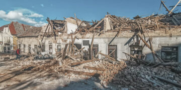 Earthquake Croatia in the region Petrinja / Sisak: Countless houses destroyed