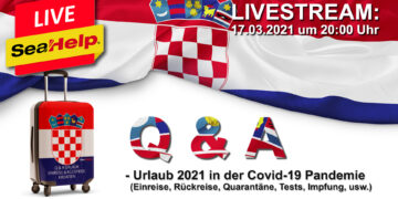 Livestream SeaHelp: Entry & return (exit) from Croatia on vacation in times of coronavirus