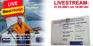 SeaHelp Livestream | Topic: Boat license Croatia, guest Michael Alexander Grandits