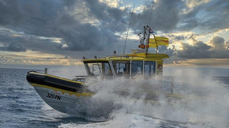 SeaHelp Einsatzboot: Bei jedem Wetter / Wind (Bora, Jugo, Bura, Maestral, Nevera / Neverin) unterwegs.