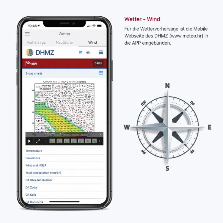 SeaHelp-App: Unwetterwarnungen auch bei starken Winden (Bora, Bura, Jugo, Nevera / Neverin, Maestral)